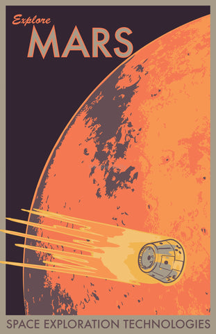 Wall Art, Explore Mars, - PosterGully