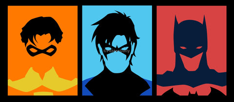 PosterGully Specials, Batman | Pop Art Triptych, - PosterGully