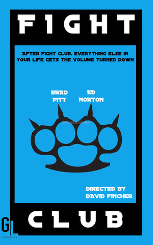 PosterGully Specials, Fight Club | Blue Minimal Art, - PosterGully