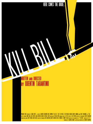 PosterGully Specials, Kill Bill | Minimal Art Poster, - PosterGully