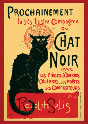 PosterGully Specials, Chat noir | Vintage Art, - PosterGully