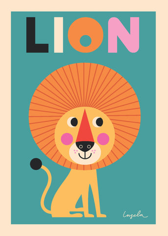 PosterGully Specials, Lion Artwork, - PosterGully