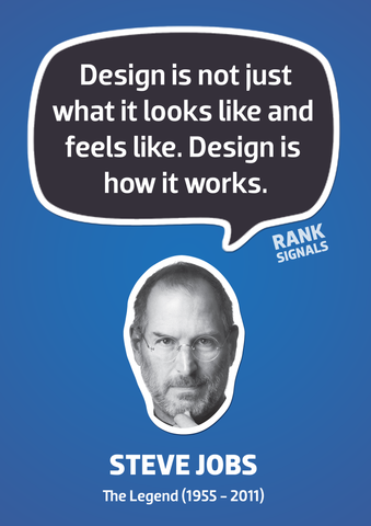 PosterGully Specials, Steve Jobs | Design Quote, - PosterGully