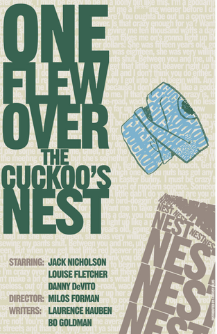 PosterGully Specials, One Flew Over The Cuckoo's Nest | Minimal Art, - PosterGully