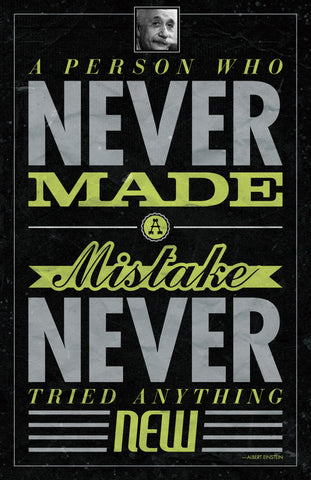 PosterGully Specials, Make Mistakes | Albert Einstein Quote, - PosterGully