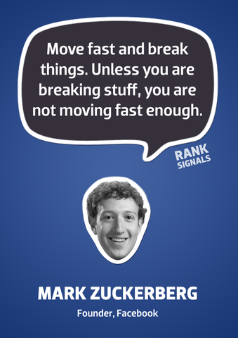 PosterGully Specials, Move Fast & Break Things | Mark Zuckerberg Quote, - PosterGully