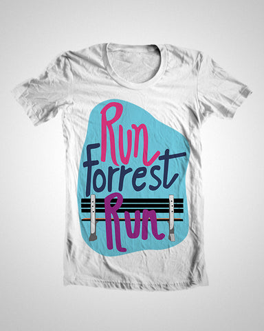 T Shirts, Run Forrest Run T-Shirt, - PosterGully