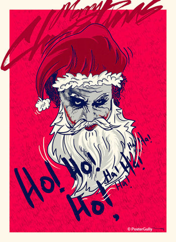 Wall Art, The Joker | Santa Claus Artwork | Artist: Raj Khatri, - PosterGully - 1