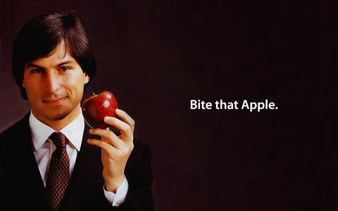 PosterGully Specials, Steve Jobs | Bite That Apple, - PosterGully