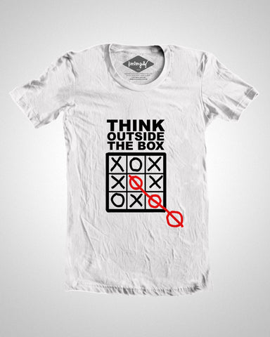 T Shirts, Think Outside The Box T-Shirt, - PosterGully