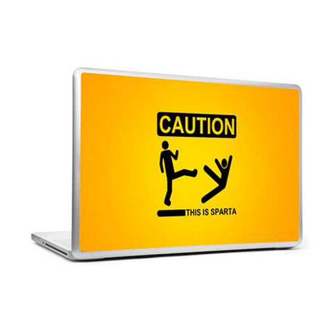 Laptop Skins, Caution This is Sparta Laptop Skin, - PosterGully