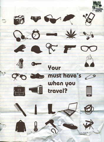 PosterGully Specials, What are your travel must haves?, - PosterGully