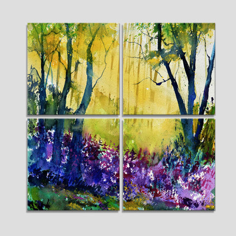 Watercolor 570010_Four Piece Canvas Set