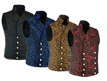 Load image into Gallery viewer, Vintage Brocade Double-Breasted Vest