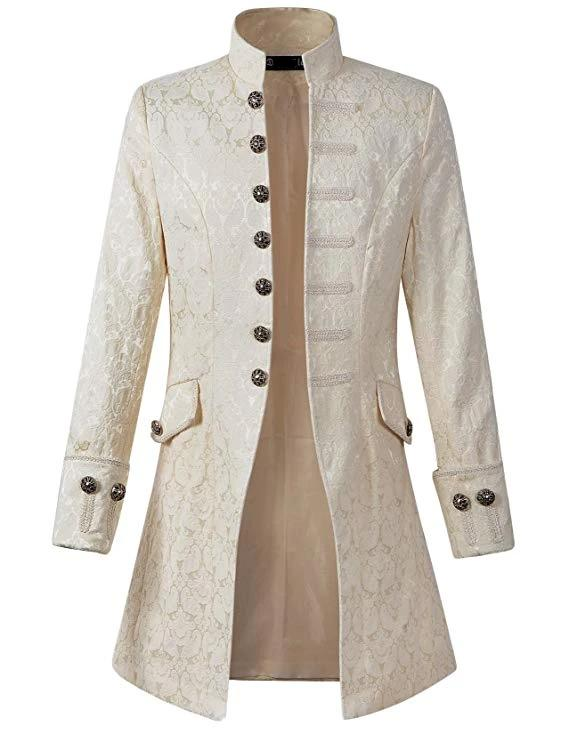 White Steampunk Victorian Frock Coat
