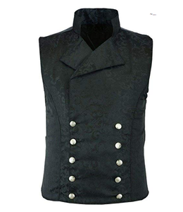 Men's Vintage Brocade Double-Breasted Vest