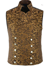 Load image into Gallery viewer, Men's Vintage Brocade Double-Breasted Vest