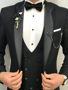 Black and Grey Three Piece Suit