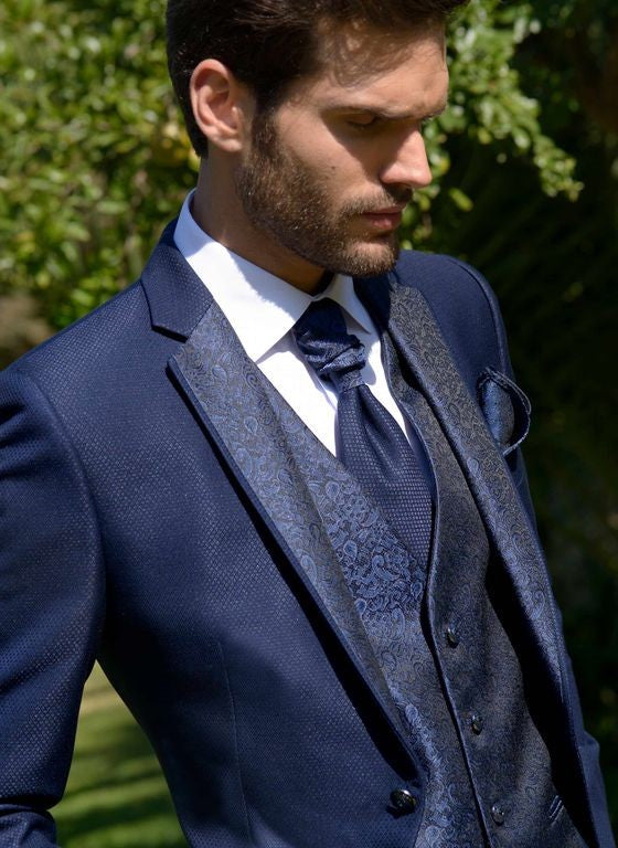 Mens  Jacquard Suit With Pants