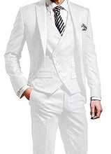 Load image into Gallery viewer, Mens Three Piece White Suit