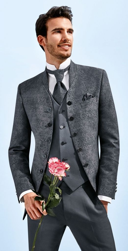 Black Paisley 3 piece suit