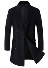 Load image into Gallery viewer, Men's Single Breasted Wool Trench Coat