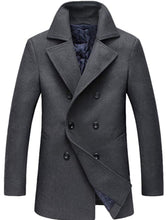 Load image into Gallery viewer, Men's Fitted Cashmere and Wool  Pea Coat