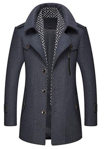 Men's Stylish Single Breasted Wool Walker Coat