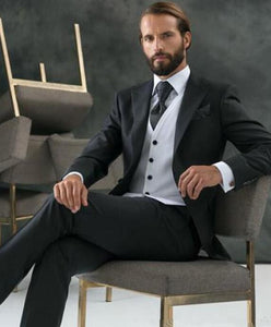 Classic Black One Button suit