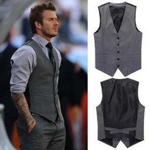 Load image into Gallery viewer, Grey / Black High-End Men's Business Casual Suit Vest