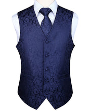 Load image into Gallery viewer, Men's  Paisley Jacquard Waistcoat Vest Sets (Tie and Pocket Square Included) 14 Colors