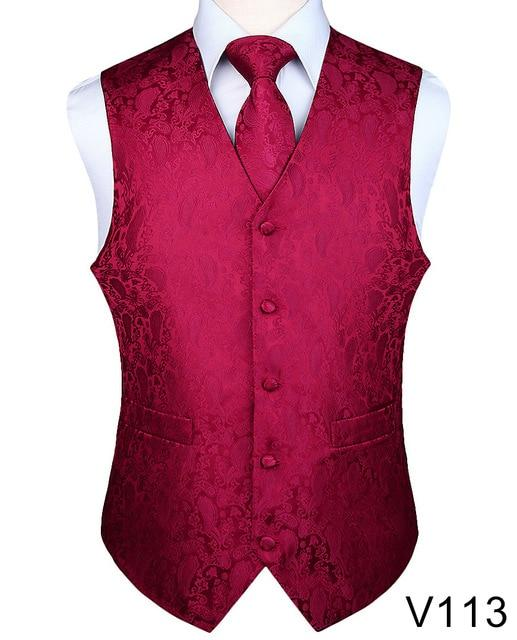 Paisley Jacquard Waistcoat Vest Set (Tie and Pocket Square Included)
