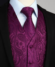 Load image into Gallery viewer, Classic Paisley Pocket Square Tie Suit Set (Colors Available)