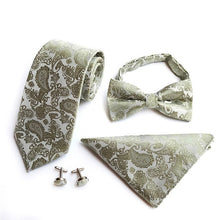Load image into Gallery viewer, Men's 100% Silk Neck Tie Set