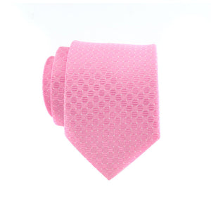 Pink Floral Jacquard Woven Neck Ties