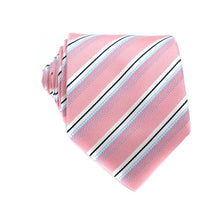 Load image into Gallery viewer, Pink Floral Jacquard Woven Neck Ties