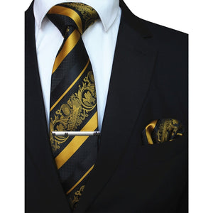 3PCS Men's Tie Handkerchief Set