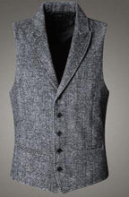 Load image into Gallery viewer, Woolen Cotton Single Breasted Vintage Vest