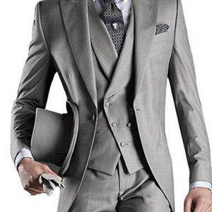 Light Gray Custom Mens Suits 3 Piece