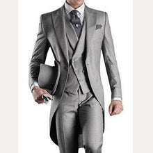 Load image into Gallery viewer, Light Gray Custom Mens Suits 3 Piece