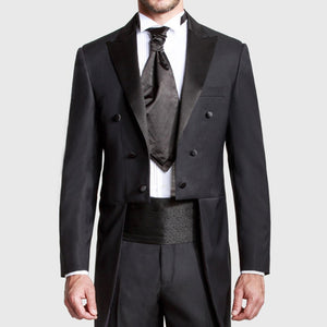 Custom Made Peaked Lapel Suit (Jacket+Pant)