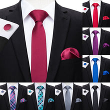 Load image into Gallery viewer, Necktie Hanky Cufflinks Set