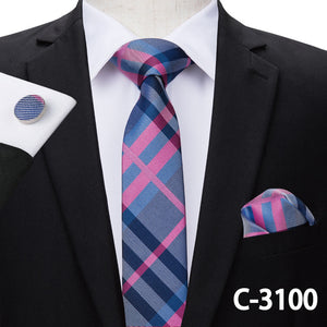 Necktie Hanky Cufflinks Set