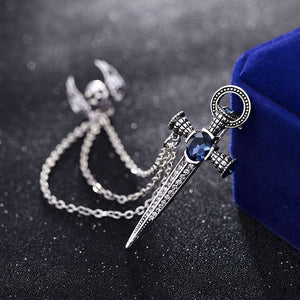 Crystal Sword Lapel Pin