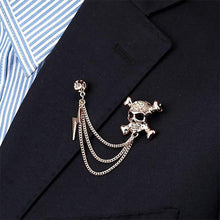 Load image into Gallery viewer, Skull Chain Brooch