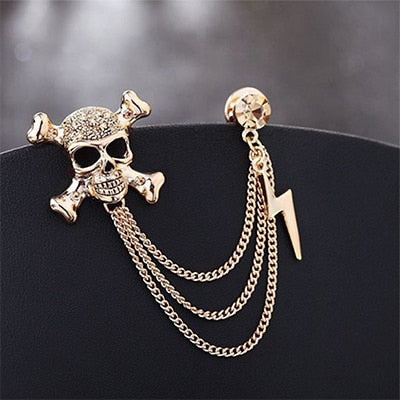 Skull Chain Brooch