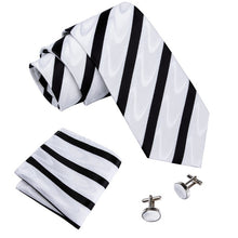 Load image into Gallery viewer, Designer 18 Colors White Sliver Men's Ties Set