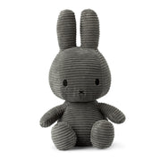 Miffy Plush - Miffy Sitting Corduroy Grey (33cm)