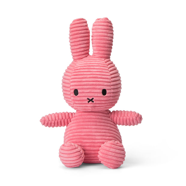 Miffy Plush - Miffy Sitting Corduroy Bubblegum Pink (23cm)