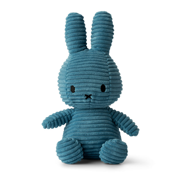 Miffy Plush - Miffy Sitting Corduroy Aviator Blue (23cm)